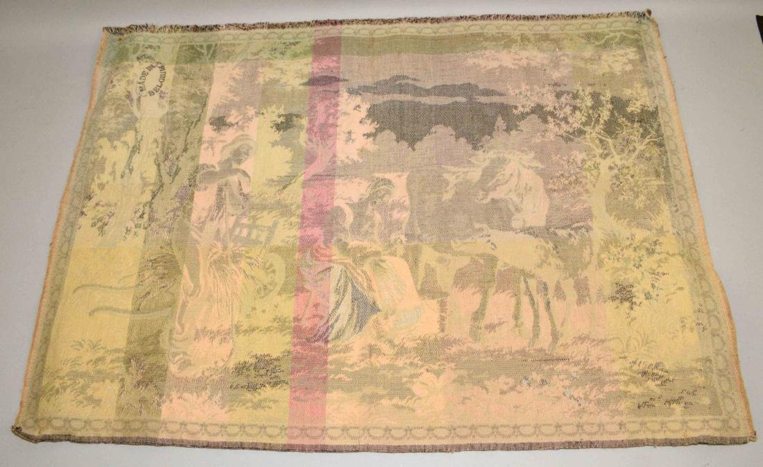 TAPESTRY OF BELGIUM FARM w/people and animals. - 2