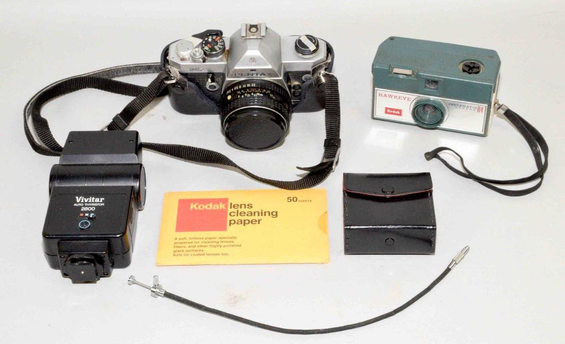 (6) PC. ASSORTED CAMERA  AND ACCESSORY LOT - 50 mm
