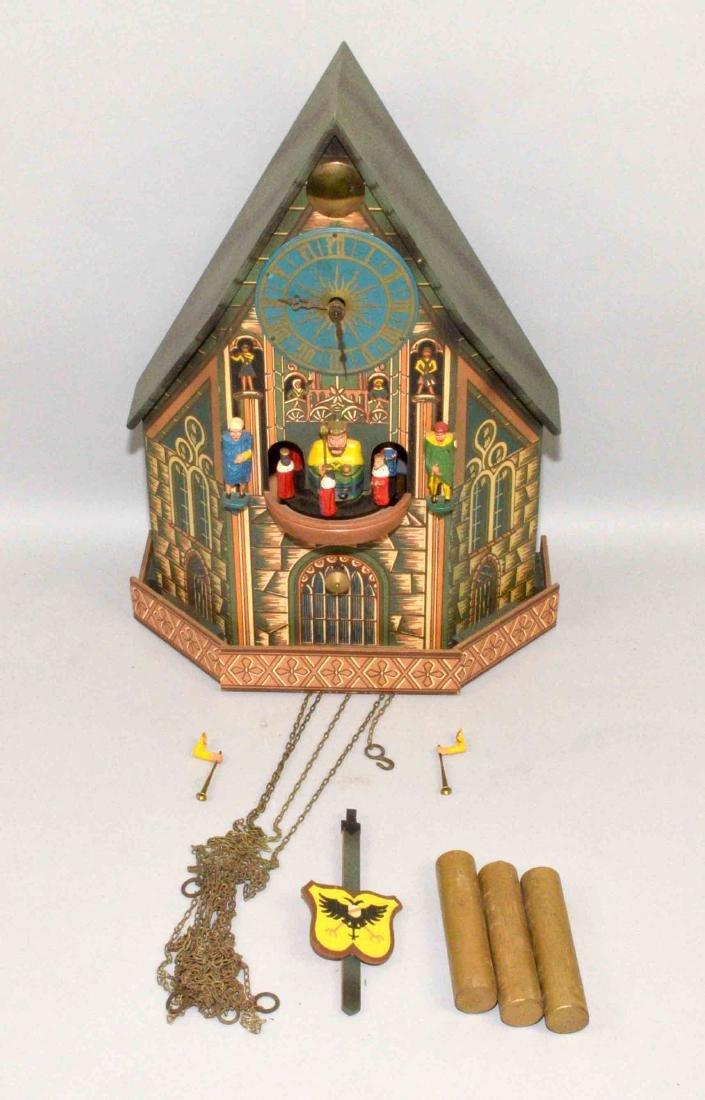 KING TOWER CUCKOO CLOCK. Era 1509 Germany (?).