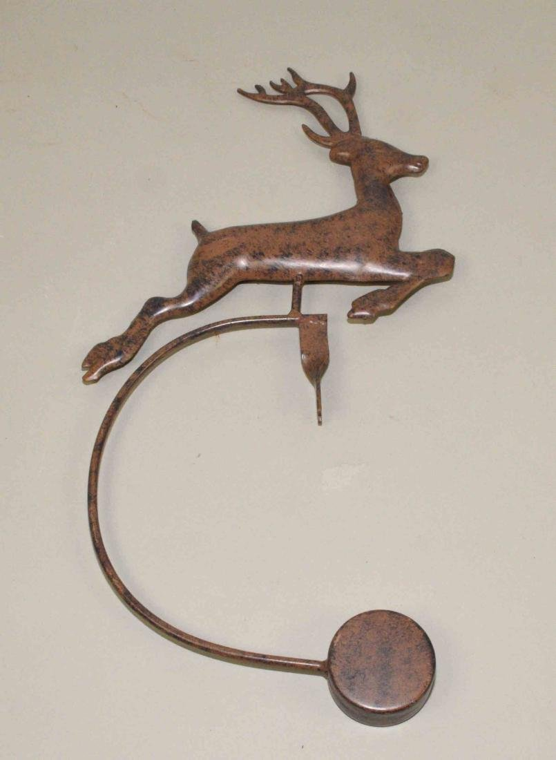 REINDEER WEATHER ORNAMENT, without stand. In bronze