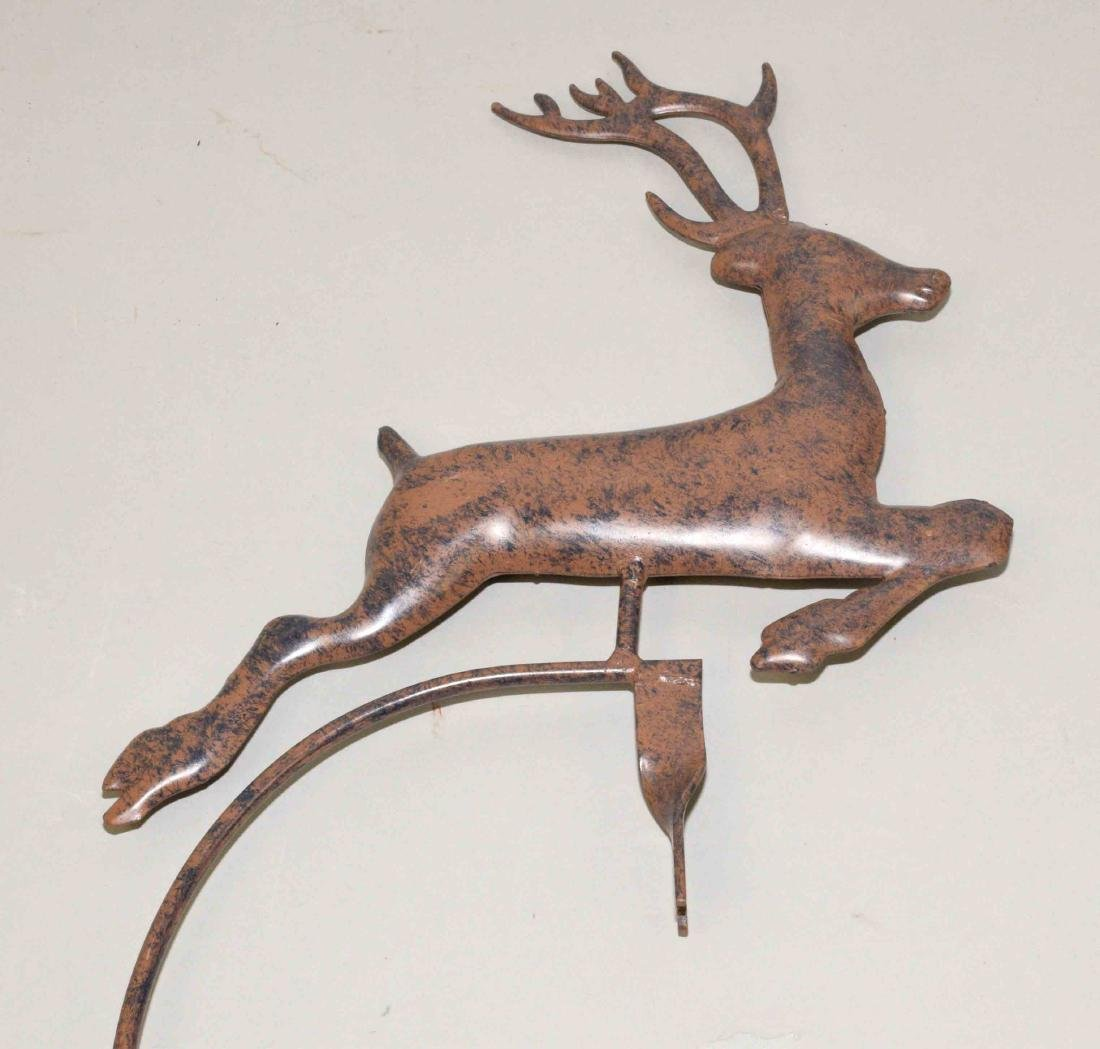 REINDEER WEATHER ORNAMENT, without stand. In bronze - 2