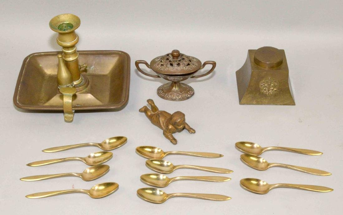 (15) ASSORTED MIXED METAL OBJECTS. Includes: