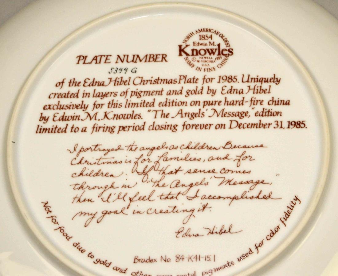 (3) DECORATIVE HANDPAINTED SIGNED PORCELAIN PLATES: - 8