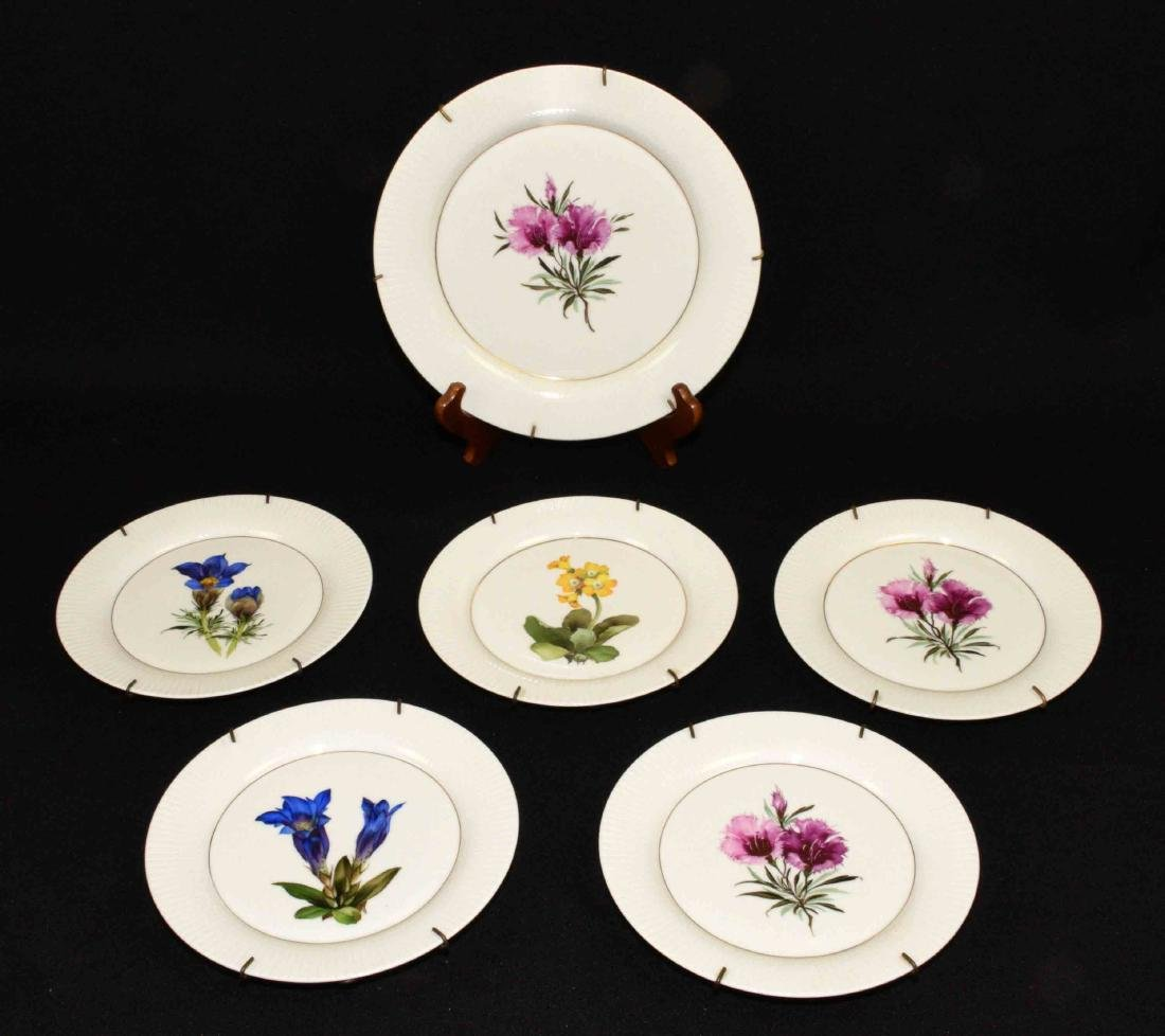 (6) PC. ROSENTHAL GERMANY HANDPAINTED FLORAL PORCELAIN
