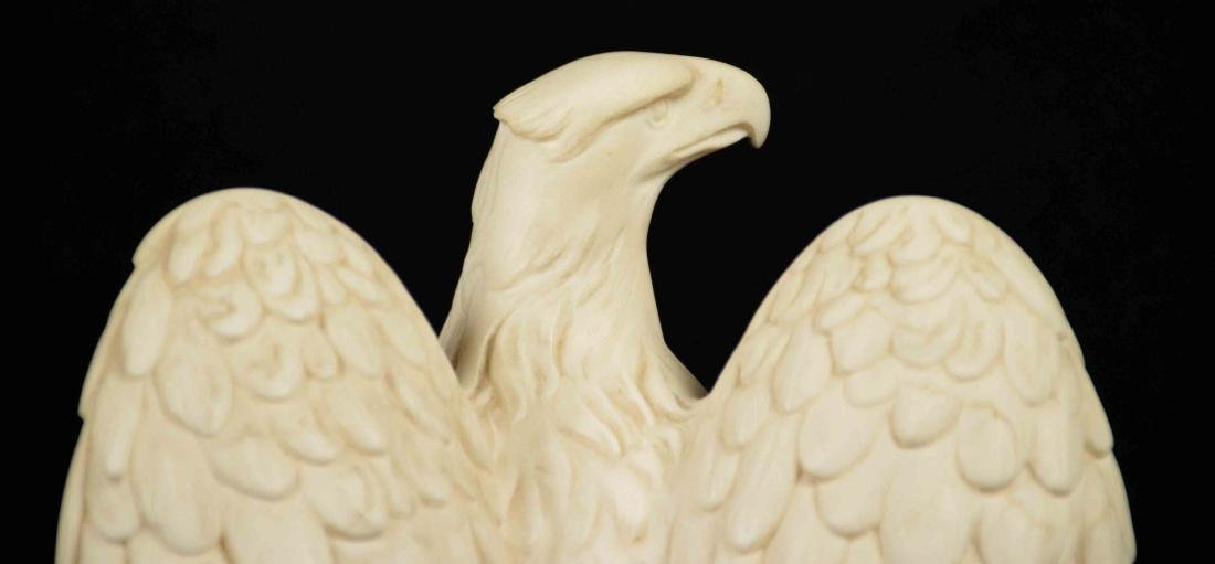 PAIR OF COMPOSITE EAGLE SCULPTURES, signed A. - 3
