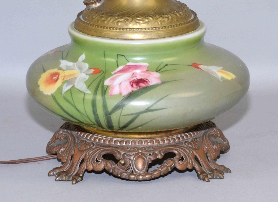 GONE WITH THE WIND TABLE LAMP.  Handpainted floral - 2