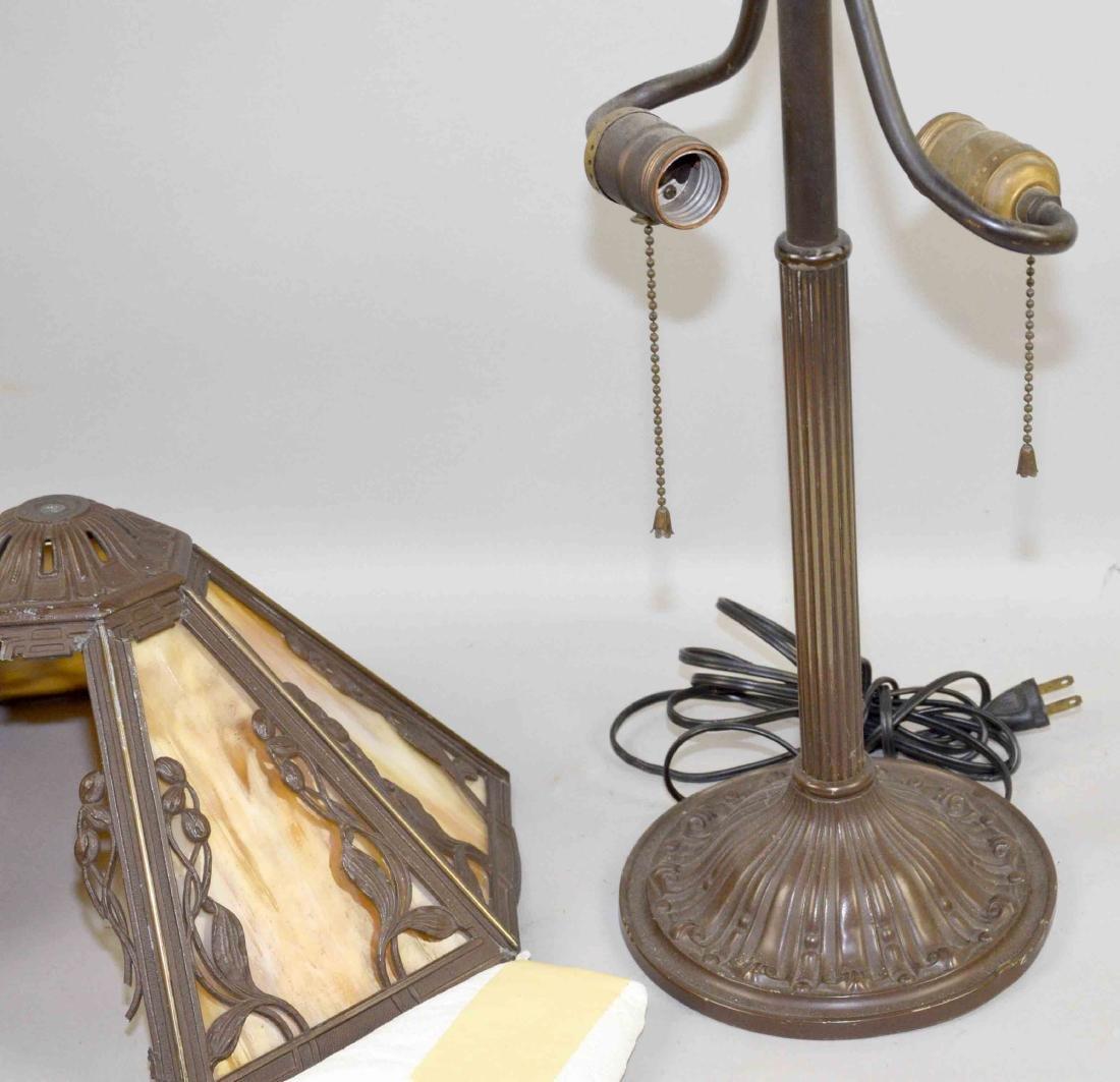 SLAG GLASS LAMP, 23''H. - 2