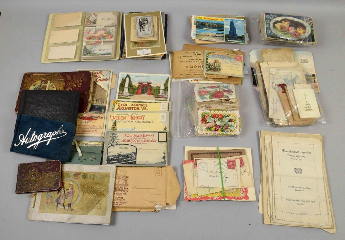 COLLECTION OF ASSORTED VINTAGE POSTAL CARD EPHEMORA