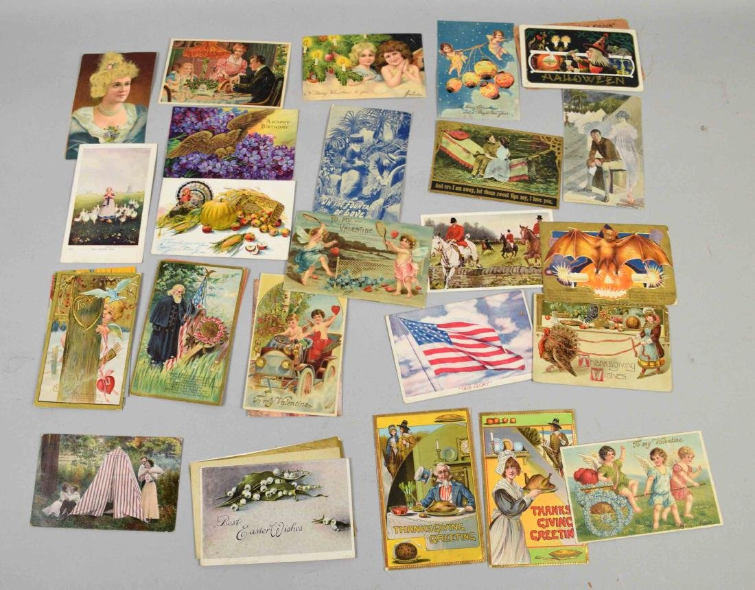 COLLECTION OF ASSORTED VINTAGE POSTAL CARD EPHEMORA - 3