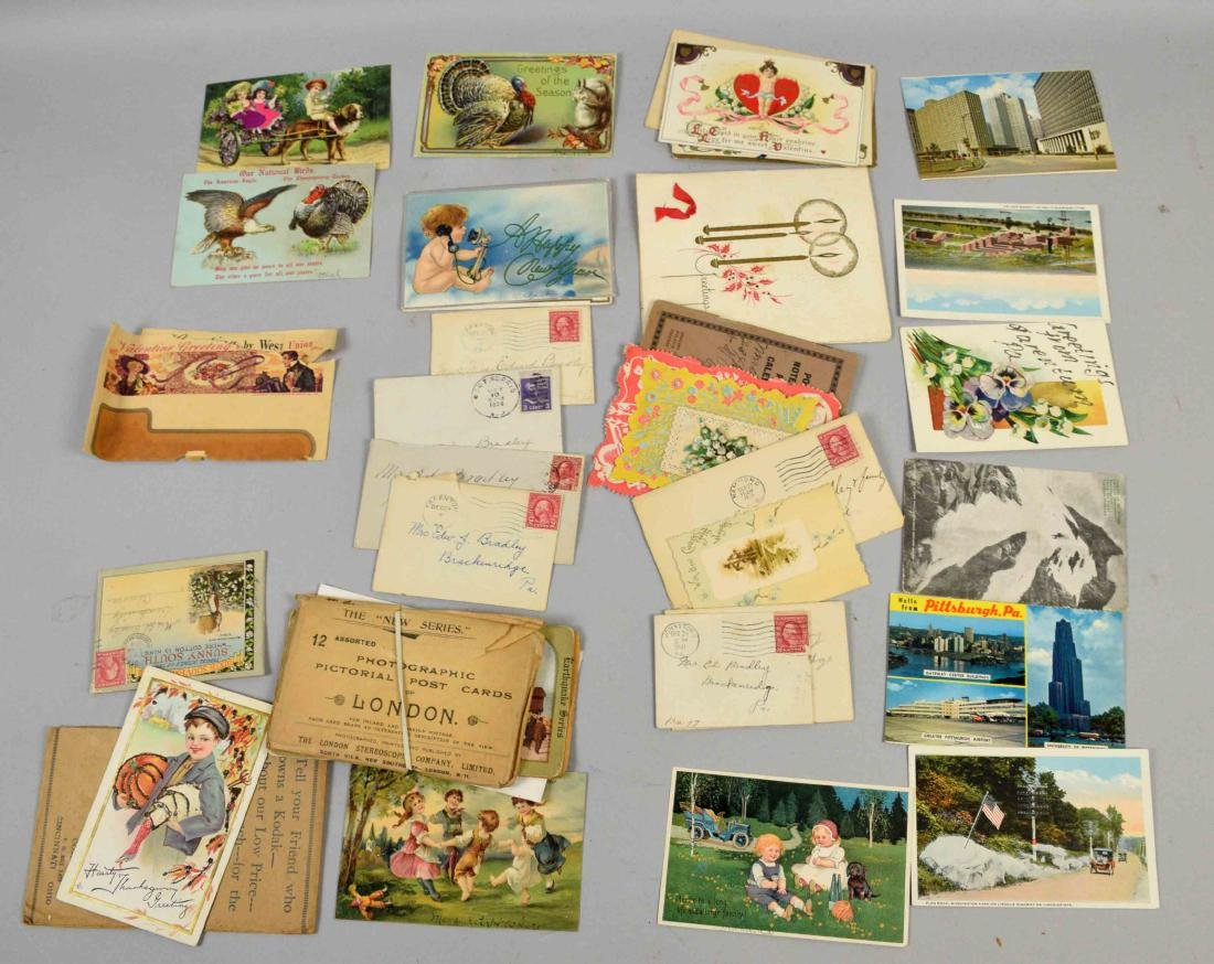COLLECTION OF ASSORTED VINTAGE POSTAL CARD EPHEMORA - 4