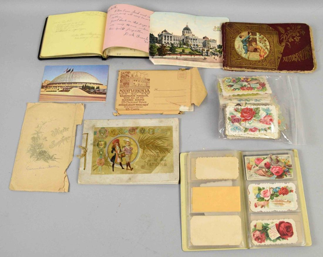 COLLECTION OF ASSORTED VINTAGE POSTAL CARD EPHEMORA - 6