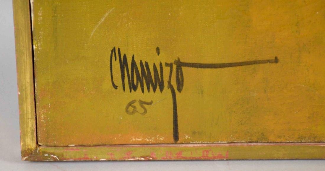 JUAN RUIZ CHAMIZO, flower girl oil painting, 1965. - 4