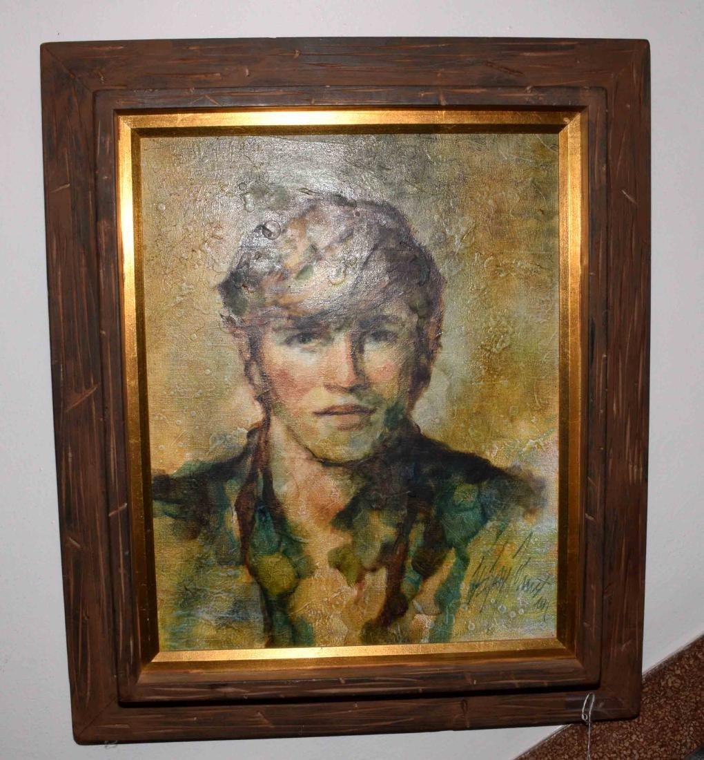 TEE JAY JOHNSTON, ''The Sun Beats Down'' oil on canvas.