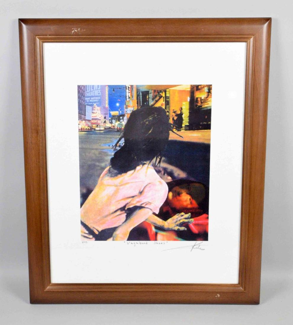 BARRY KITE framed lithograph ''Vagabond shoes''  signed
