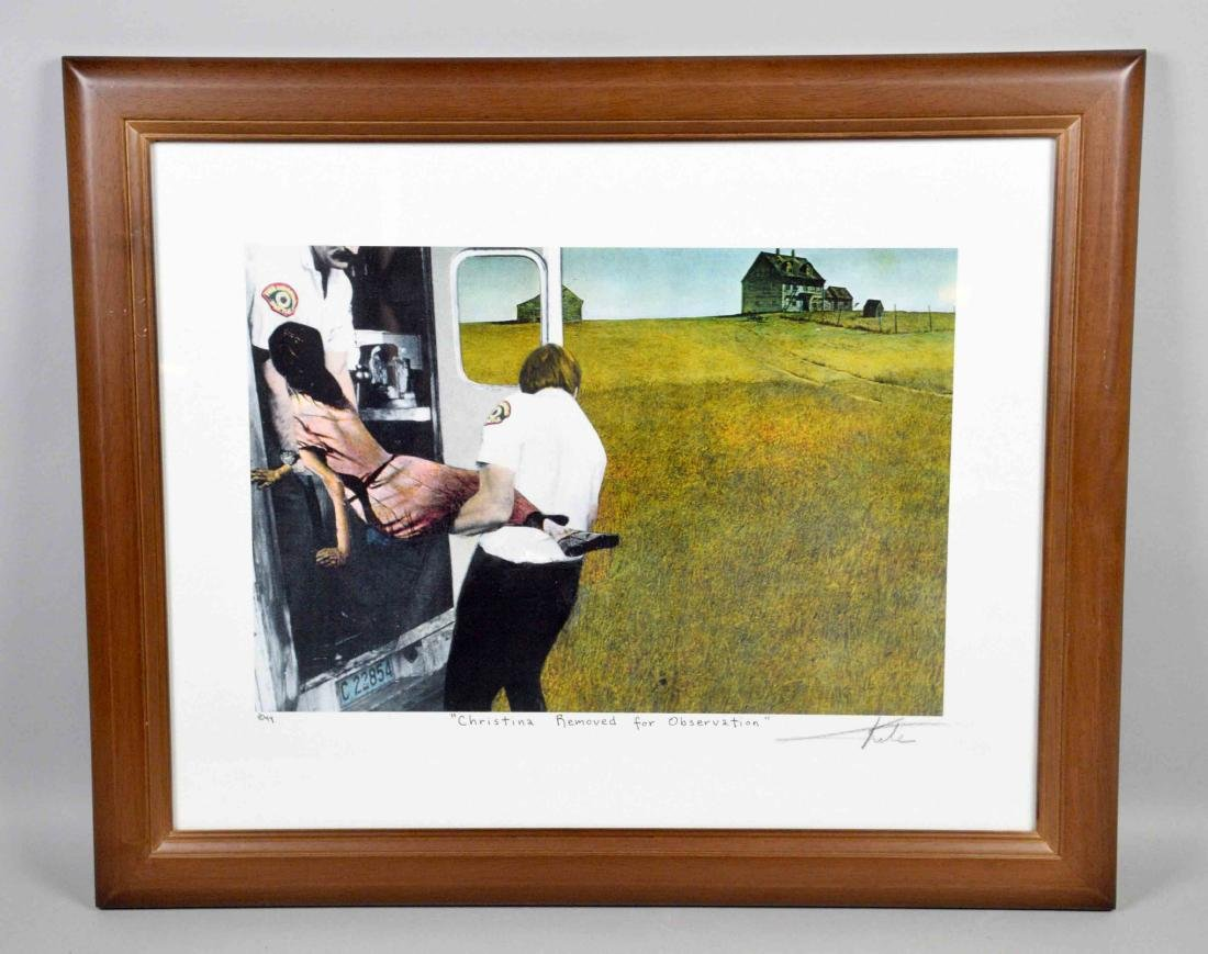 BARRY KITE framed lithograph ''Christina removed for