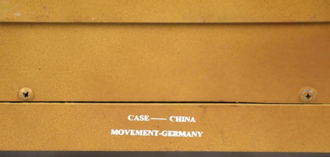 WOODEN MANTEL CLOCK, German movement, Case China. 19''H - 5