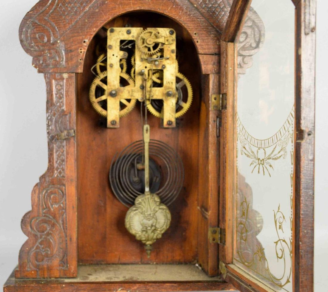 WOODEN WALL CLOCK, No clock face. 17.5''H x 13.5''W. - 2