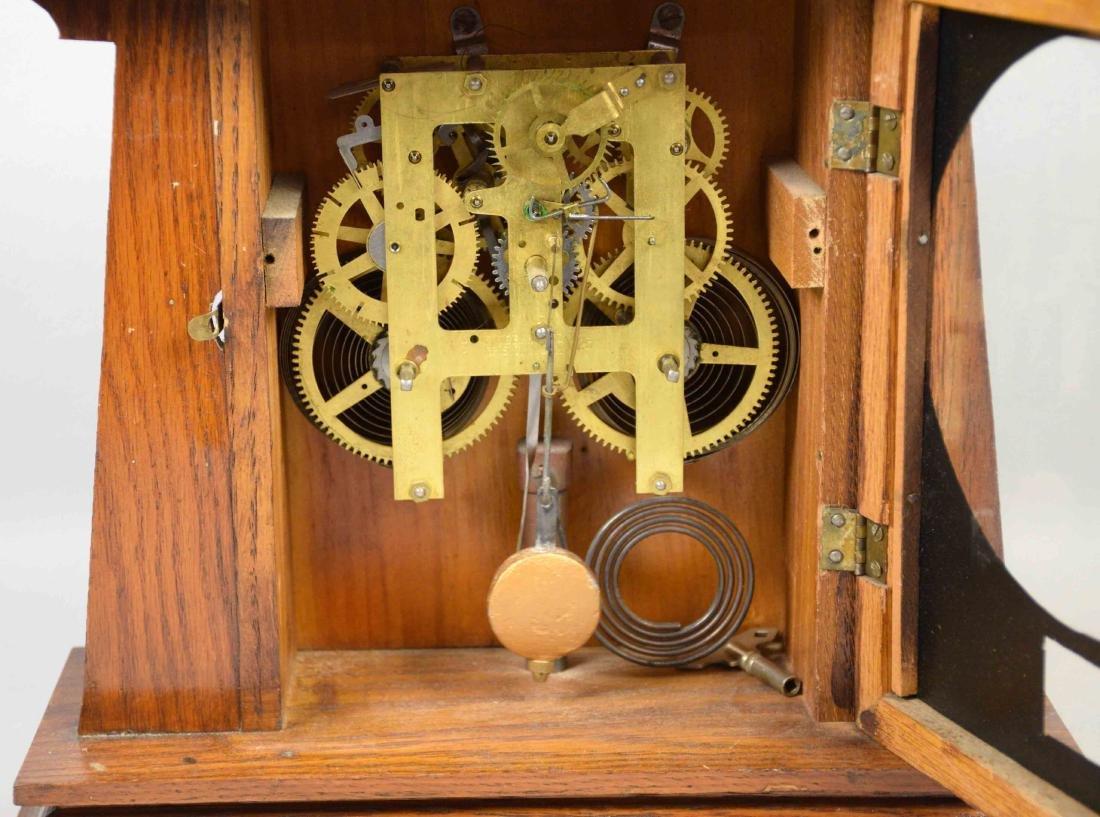 WOODEN MANTEL CLOCK, E. Ingrahm, No clock face. 14''H x - 2