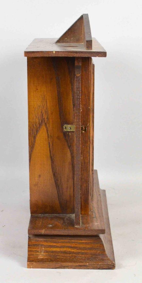 WOODEN MANTEL CLOCK, E. Ingrahm, No clock face. 14''H x - 3