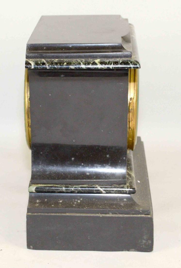MARBLE MANTEL CLOCK. 9''H x 9.5''W. - 4