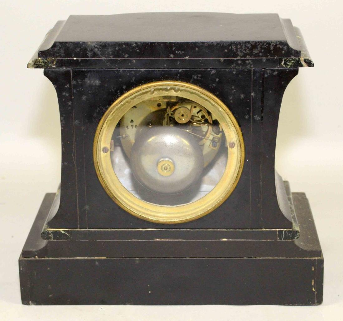 MARBLE MANTEL CLOCK. 9''H x 9.5''W. - 5