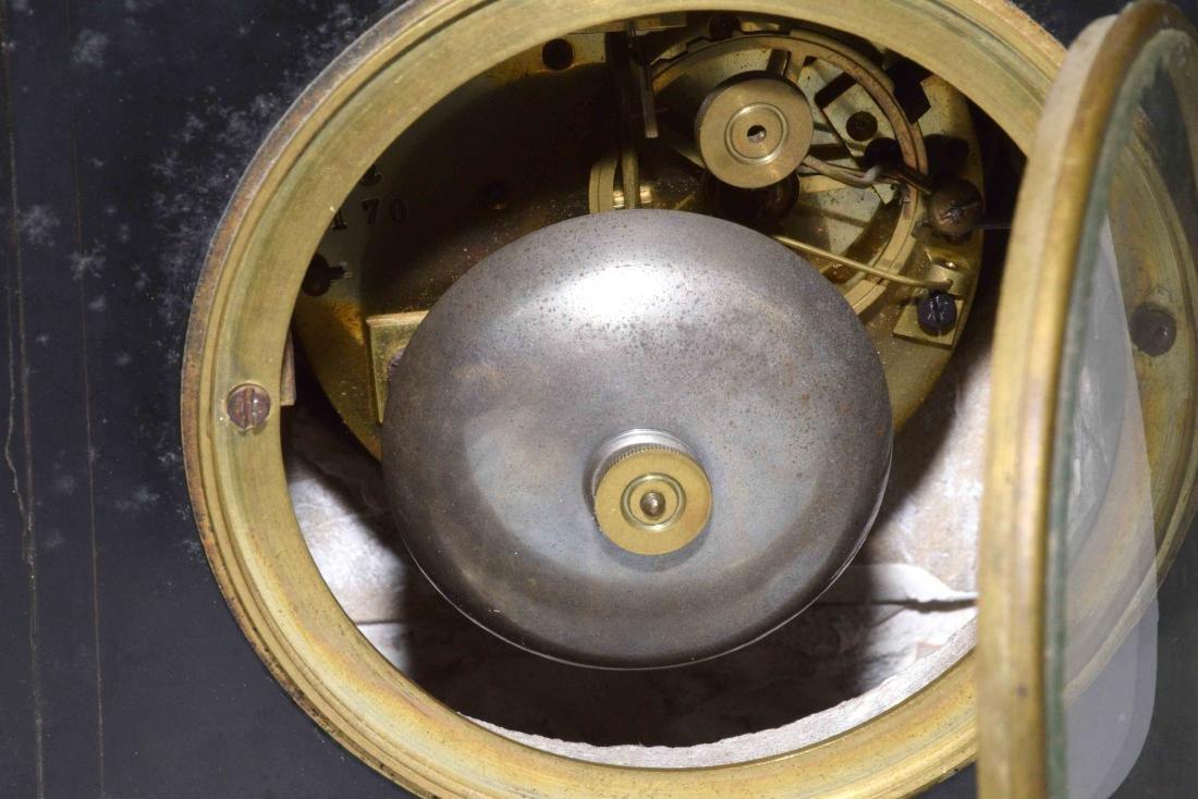 MARBLE MANTEL CLOCK. 9''H x 9.5''W. - 6