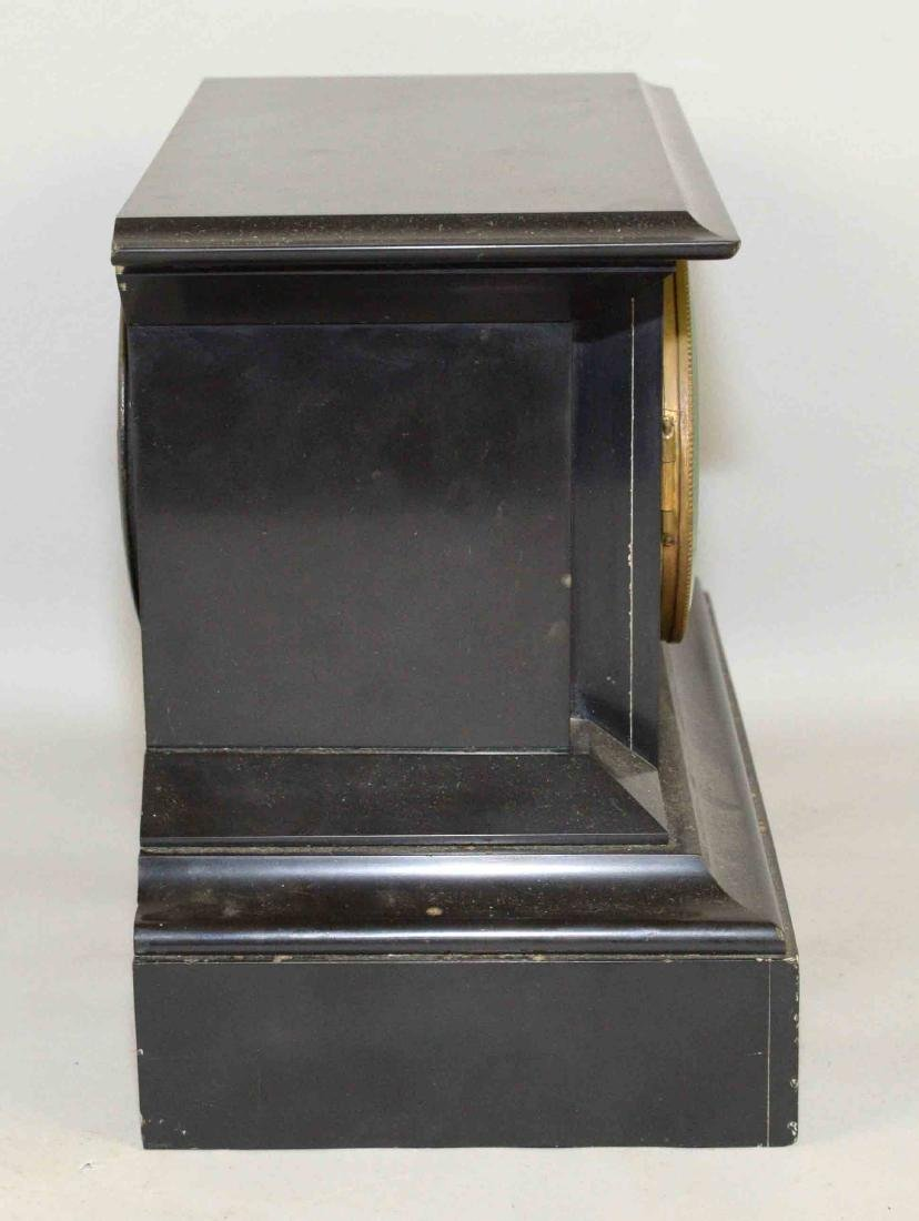 MARBLE MANTEL CLOCK. 8.5''H x 11.5''W. - 4
