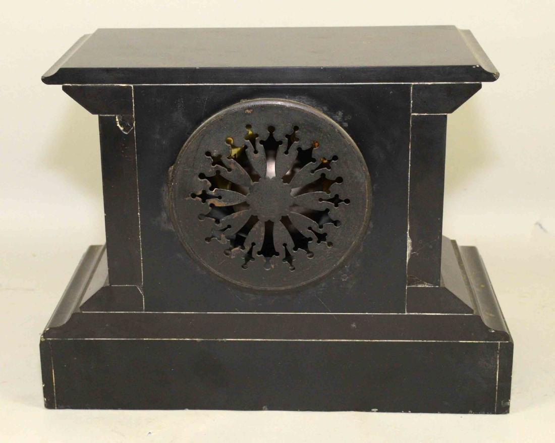 MARBLE MANTEL CLOCK. 8.5''H x 11.5''W. - 5