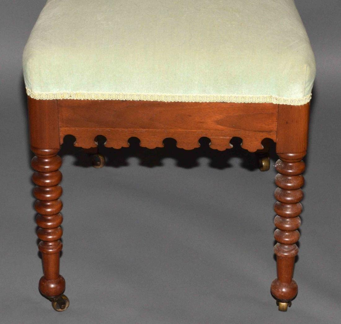 PAIR OF CARVED PARLOR CHAIRS. 48''H x 17''W. - 3
