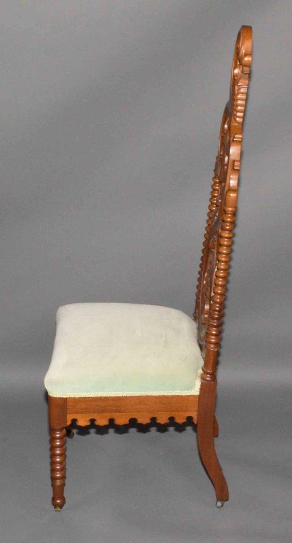 PAIR OF CARVED PARLOR CHAIRS. 48''H x 17''W. - 4