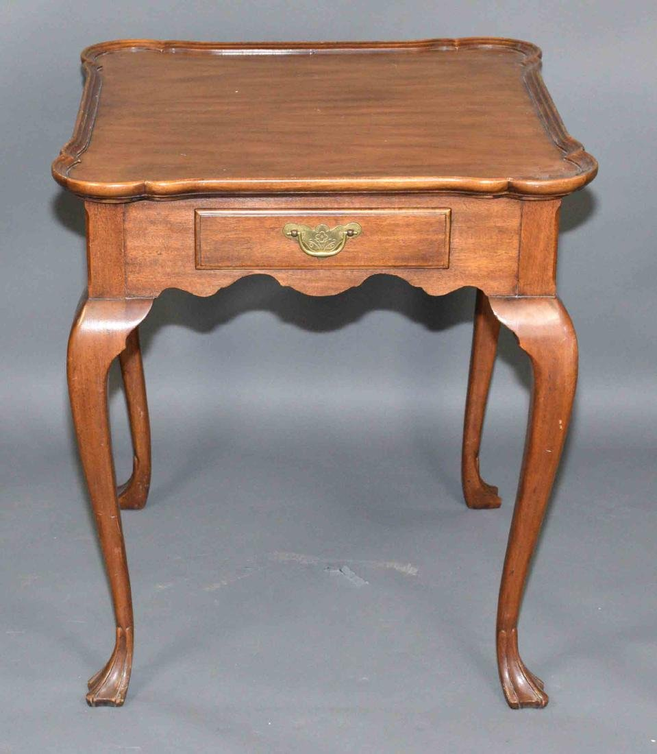 BAKER END TABLE. 28''H x 24.5''W.