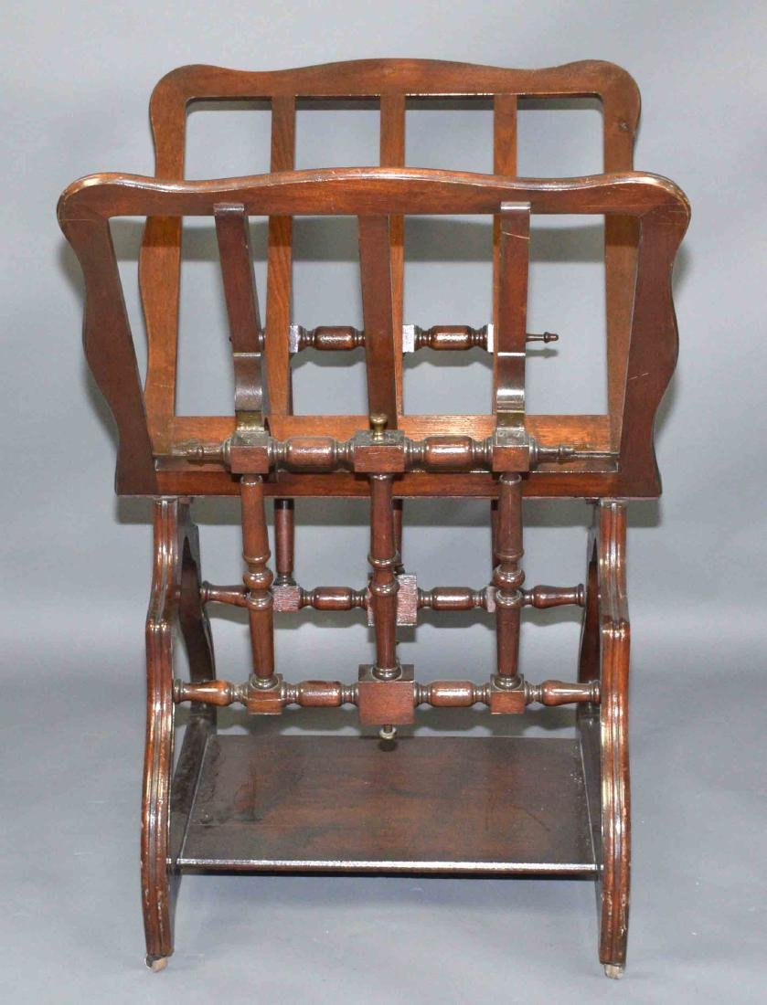 ANTIQUE ADJUSTABLE PRINT RACK ON CASTERS. 45.5''H x
