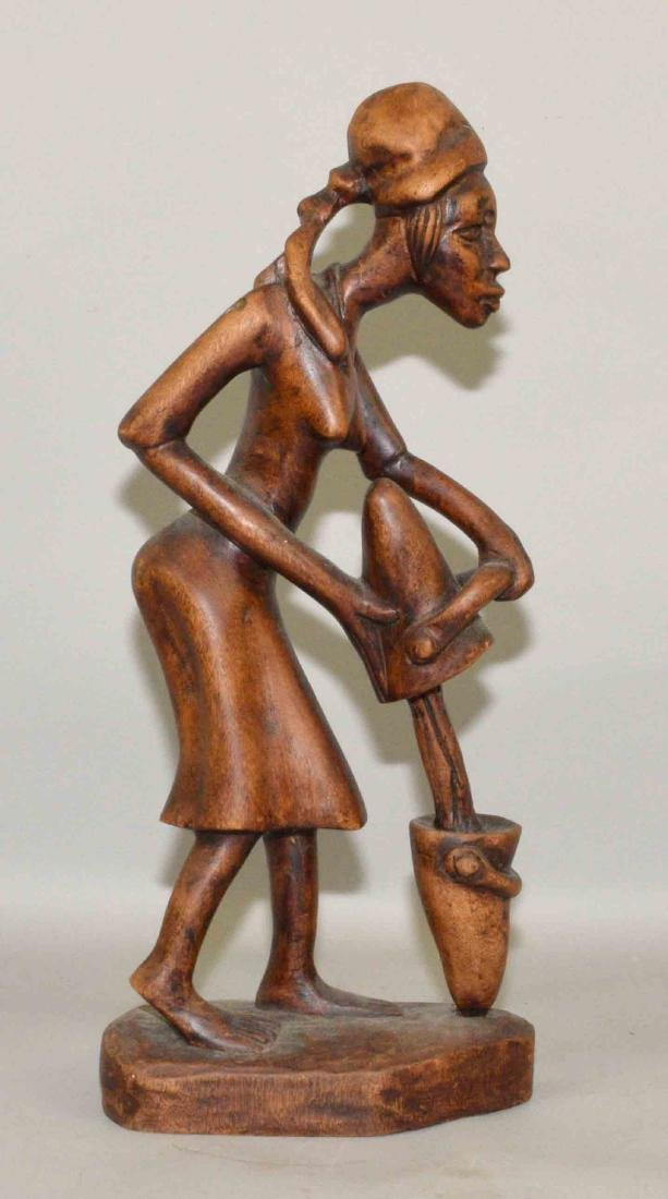 WOODEN AFRICAN CARVING. 21''H.