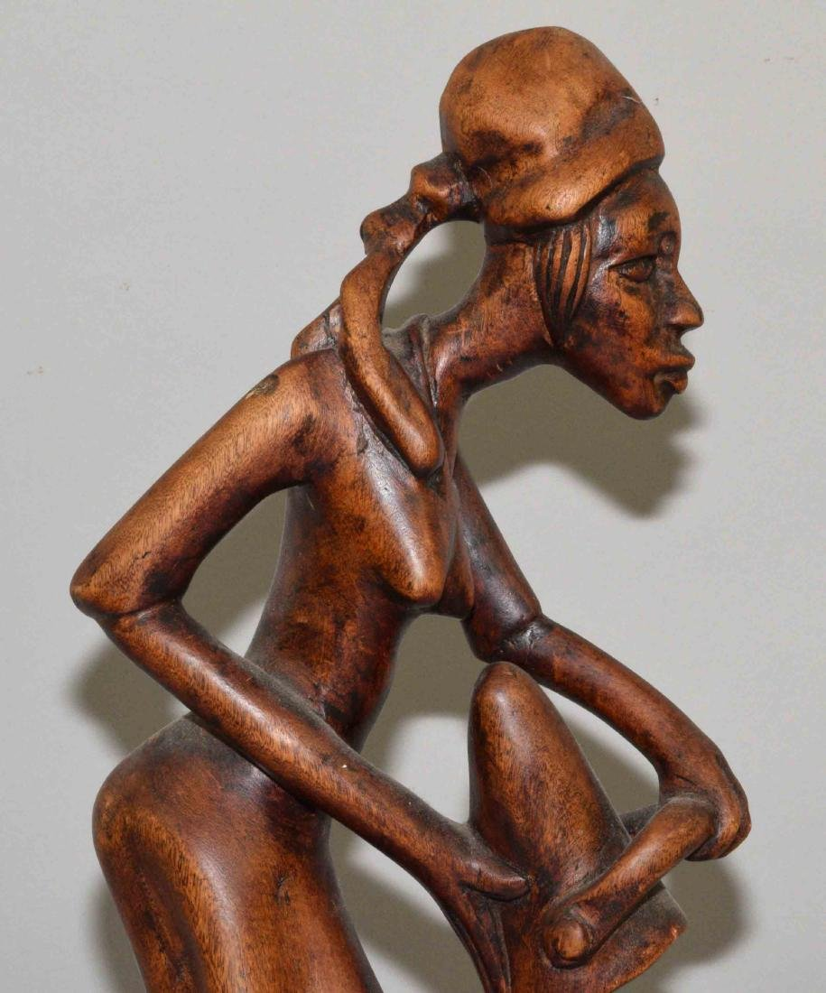 WOODEN AFRICAN CARVING. 21''H. - 2