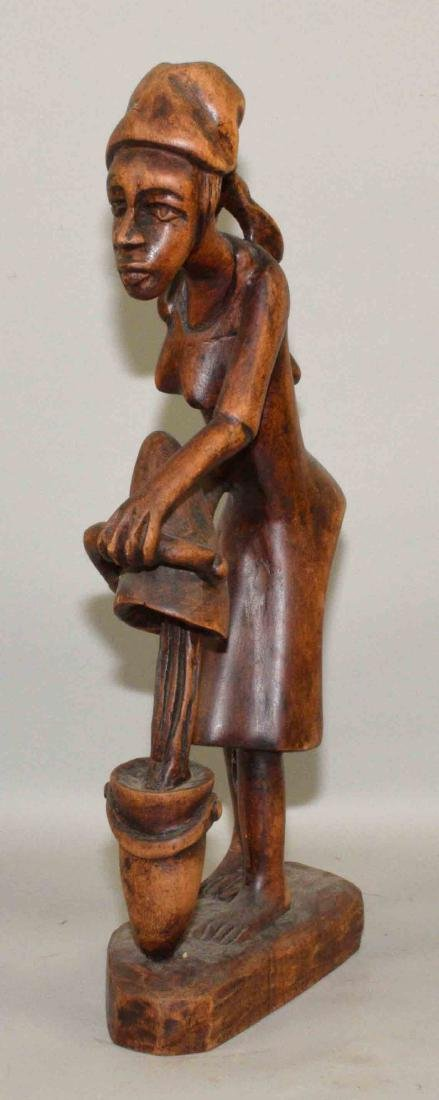 WOODEN AFRICAN CARVING. 21''H. - 3