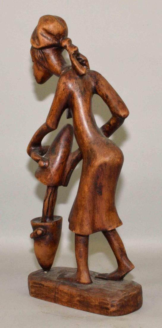 WOODEN AFRICAN CARVING. 21''H. - 4