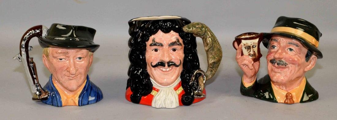 COLLECTION OF ROYAL DOULTON MUGS, including Captain