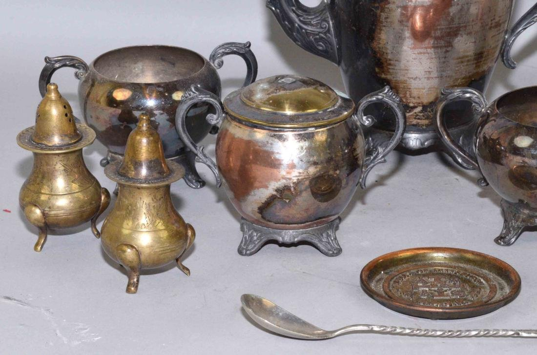 COLLECTION OF MISC. METALWARE, including sterling salt - 2