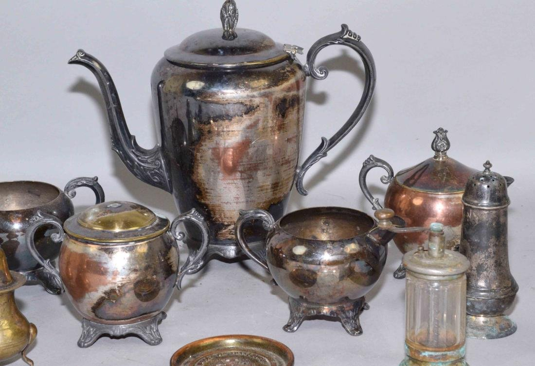 COLLECTION OF MISC. METALWARE, including sterling salt - 3