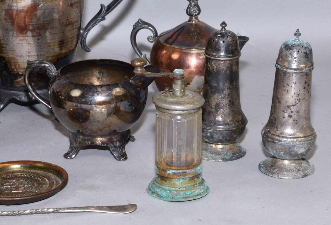 COLLECTION OF MISC. METALWARE, including sterling salt - 4