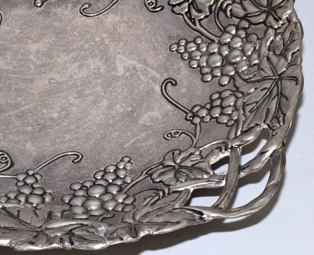 PEWTER BOWL AND WENDELL AUGUST FORGE COASTER. Largest: - 3