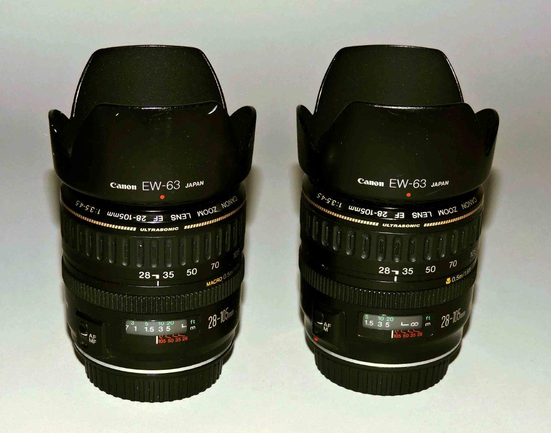 A group of lenses consisting of (2) Canon EW-63, - 3