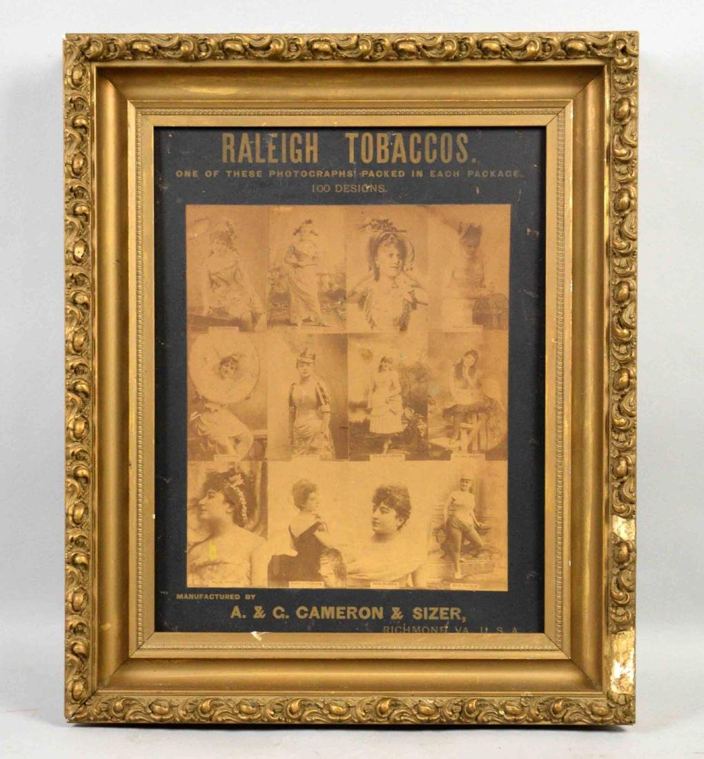 RALEIGH TOBACCO ADVERTISING POSTER, A. and G. Cameron