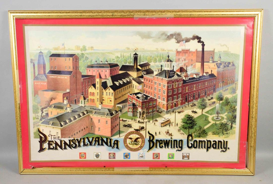 PENNSYLVANIA BREWING COMPANY POSTER, 24''H x 36''W.