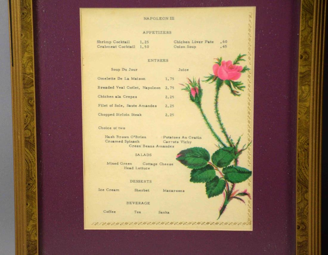 PAIR OF ANTIQUE RESTORANTE MENU, Napoli, largest 27''H - 2