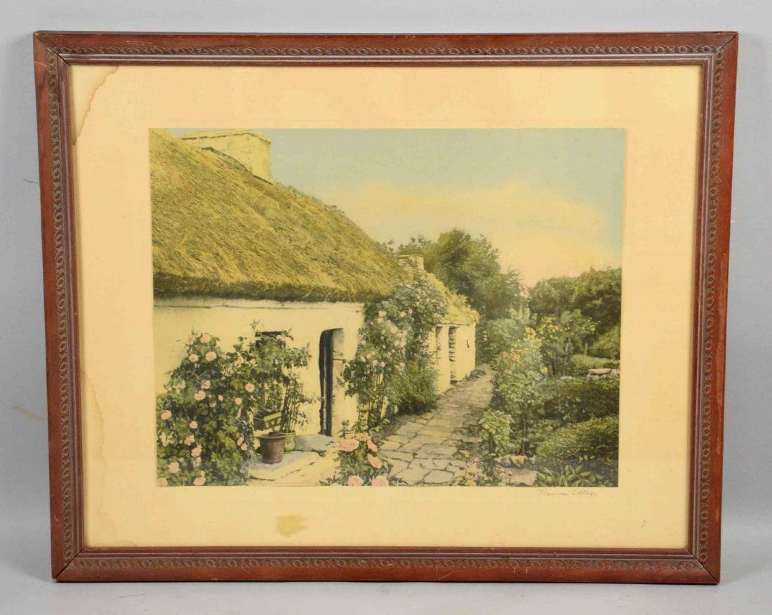 WALLACE NUTTING, ''Primrose Cottage'', 16''H x 19.5''W.