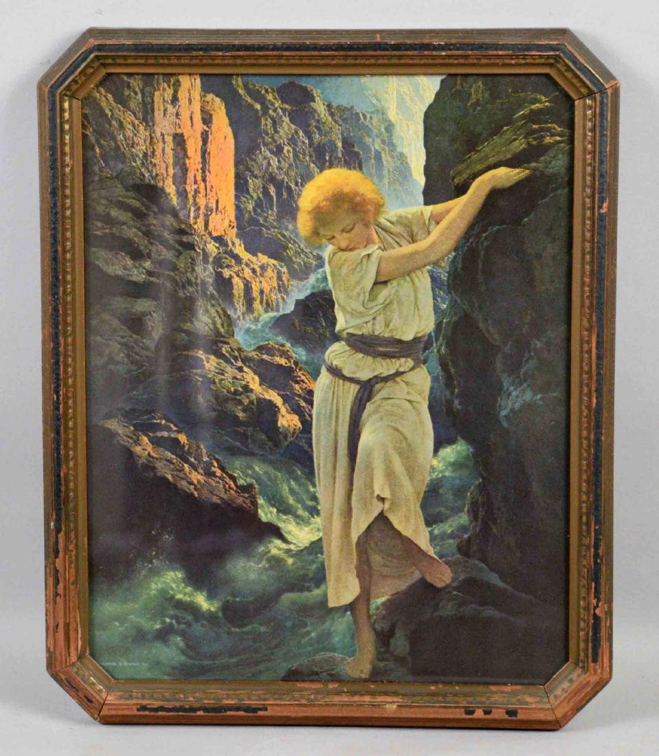 MAXFIELD PARRISH PRINT, Reinthal and Newman, NY. 15''H