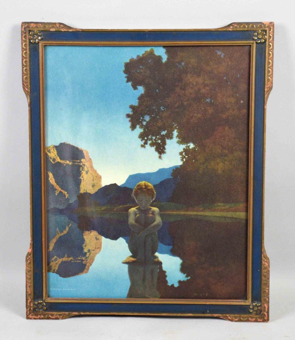 MAXFIELD PARRISH PRINT ''Evening'', Reinthal and