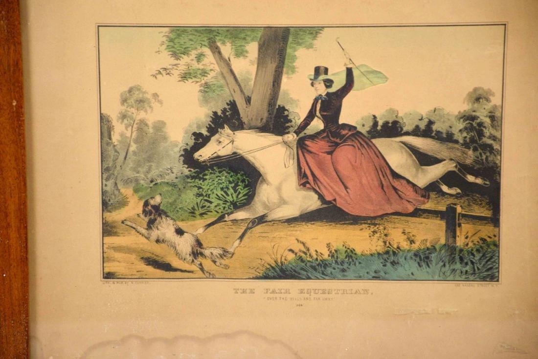 N. CURRIER PRINT, ''The Fair Equestrian'', 13''H x - 2