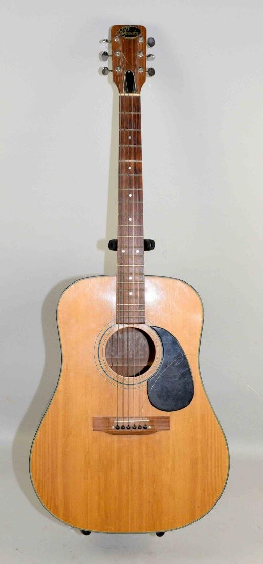 PICADOR ACOUSTIC GUITAR. Steel strings, one broken,